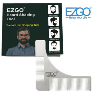 EZGO-Stainless-Steel-Beard-Shaping-Comb-Facial-Hair-Styling-Template-Trim-Tool