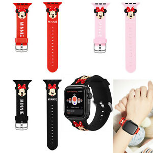 Cartoon Minnie Mouse For Apple Watch Band Series 5 3 Iwatch Silicone Wrist Strap Ebay