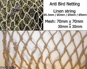 Net-Netting-Natural-Linen-Anti-Bird-Crop-Plant-Garden-Veg-Fruit-Protection-Eco