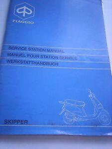 genuine piaggio skipper service station workshop manual book ebay rh ebay co uk Workshop Manuals Oilfield Well Testing BMW Workshop Manual