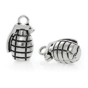 5pcs Believe In Yourself Bead Tibetan Silver Charms Pendant DIY Bracelet 22*18mm