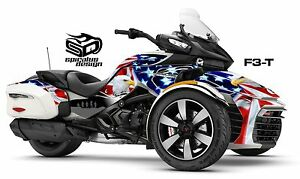 can am spyder f3 t decal graphic wrap kit patriot usa. Black Bedroom Furniture Sets. Home Design Ideas