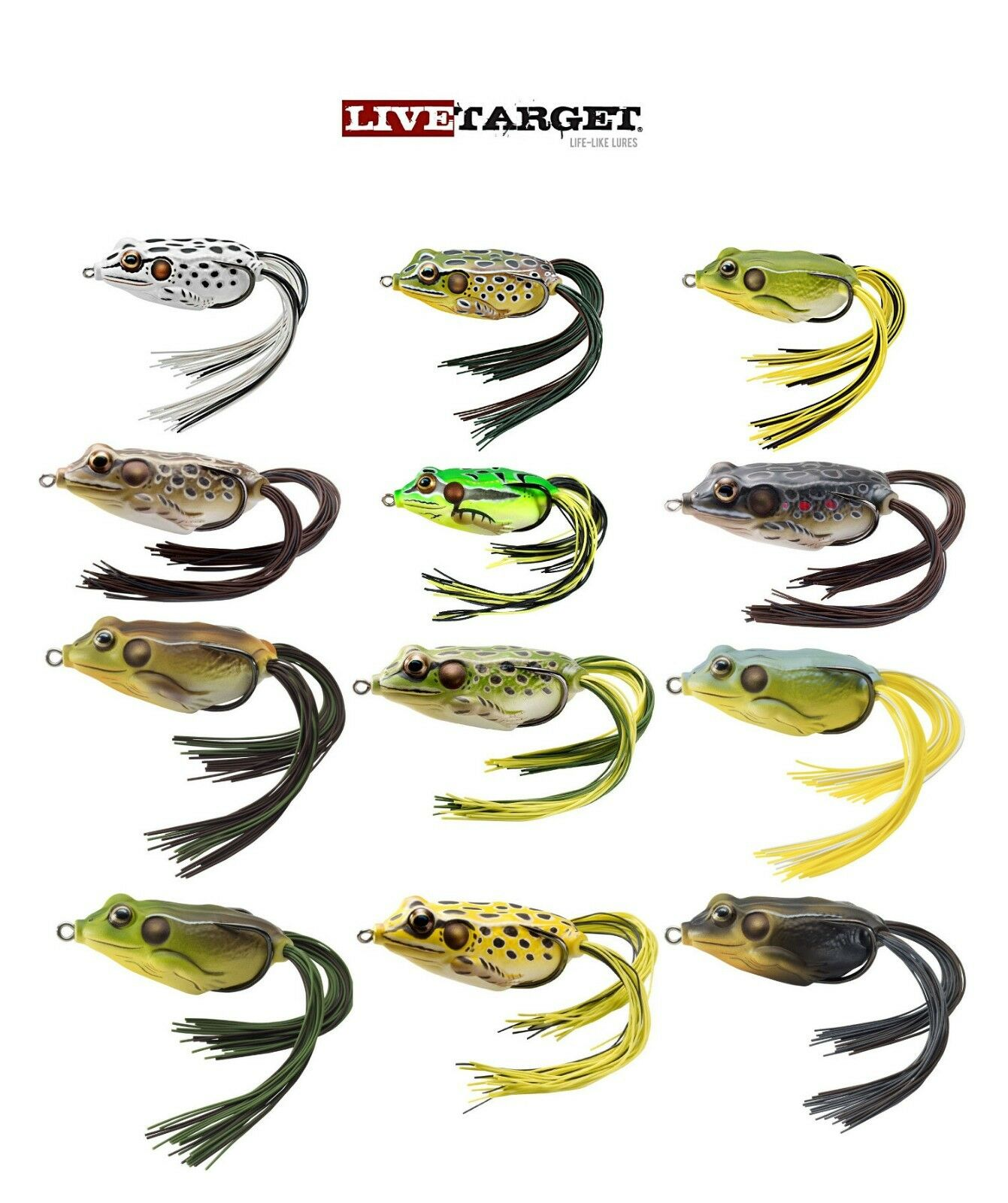 """Koppers 2 1//4/"""" Live Target Hollow Body Surface FrogFGH55T501 Color YELLOW//BLACK"""