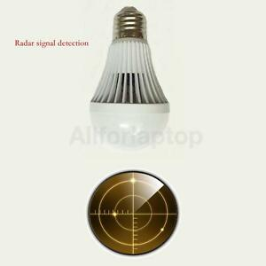 9w led radar lampe birne e27 mit bewegungsmelder bewegungsensor lampe ebay. Black Bedroom Furniture Sets. Home Design Ideas
