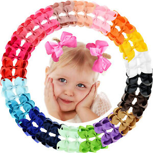 40pcs-4-5Inch-Grosgrain-Ribbon-Hair-Bows-Alligator-Clips-for-Baby-Girls-Toddlers