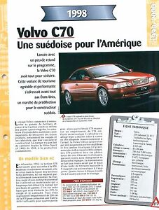 Volvo-S70-1998-SWEDEN-SUEDE-Car-Auto-FICHE-FRANCE