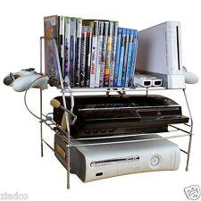 New Video Game System XBOX PS3 Wii  Storage Rack Shelf Station Organizer