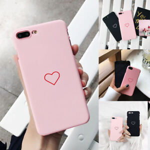 online retailer b7782 b0643 Details about Fashion Cute Love Heart Frosted Phone Case Cover For Samsung  Galaxy S9 Plus S7