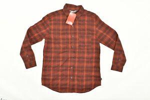 NWT Women's The North Face Long Sleeve Boyfriend Red Button Shirt Plaid Sz M
