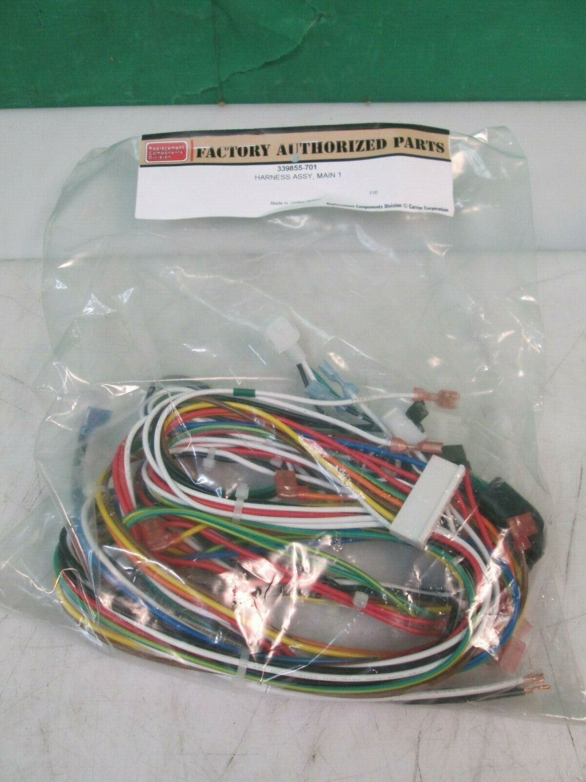 CARRIER BRYANT PAYNE FURNACE WIRING HARNESS MAIN 1 339855-701 NEW for sale  onlineeBay