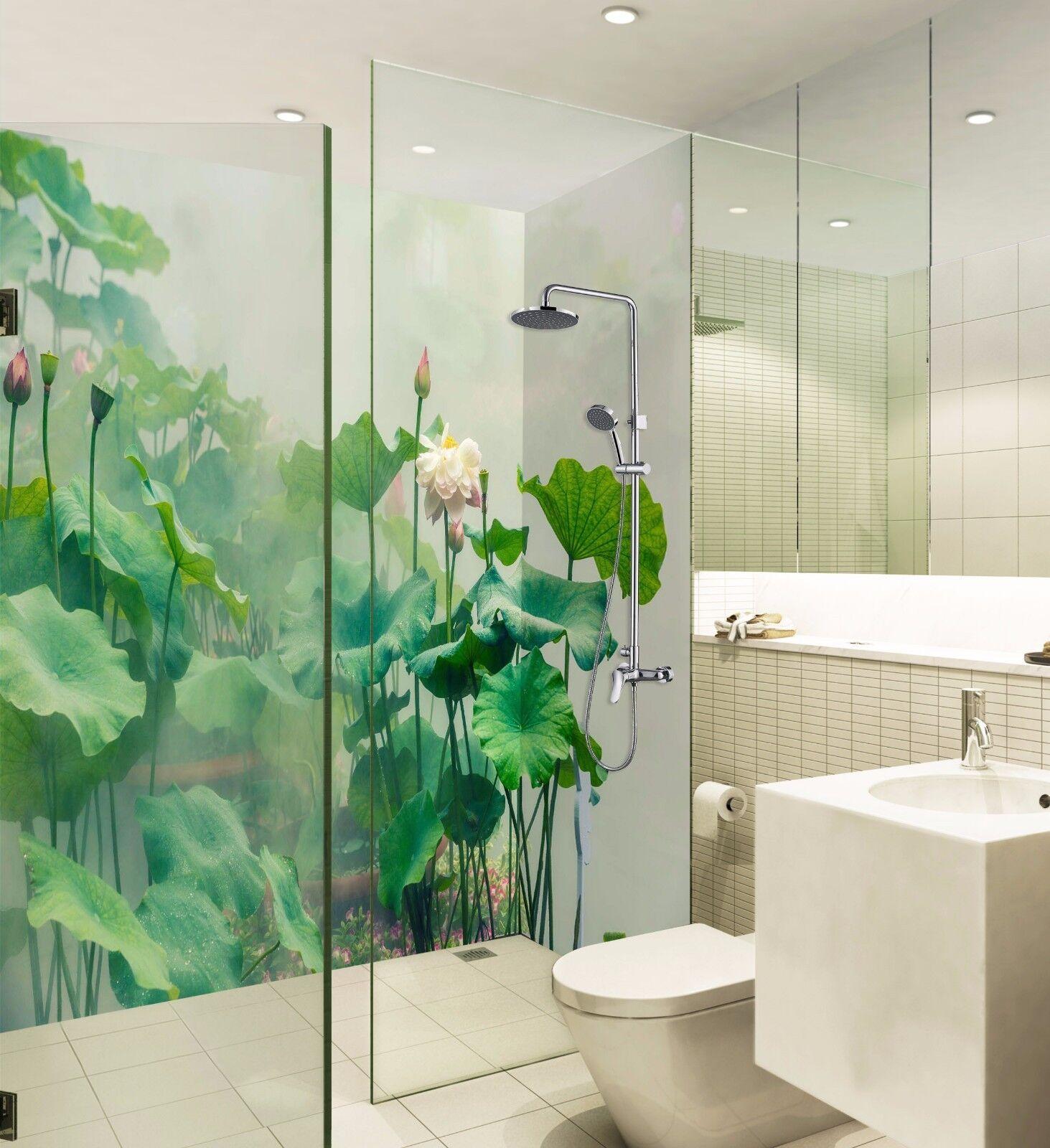 3D Grün Lotus Leaf 422 WallPaper Bathroom Print Decal Wall Deco AJ WALLPAPER AU