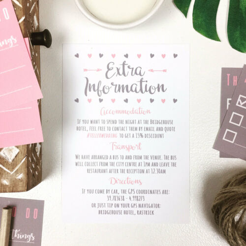 Personalised Wedding Invitations Handmade Rustic Photo Set With Free Envelopes