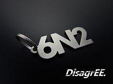 """Schlüsselanhänger """"6N2"""" - Polo 6N2 GTI 16V - hochwertiger Edelstahl GEBÜRSTET!"""