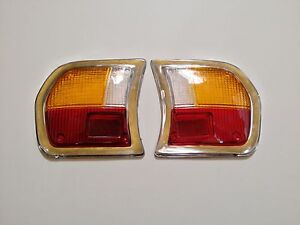 Peugeot-504-Tail-Light-Lens-Set-of-Two-Lenses-Left-and-Right-NEW-717AB