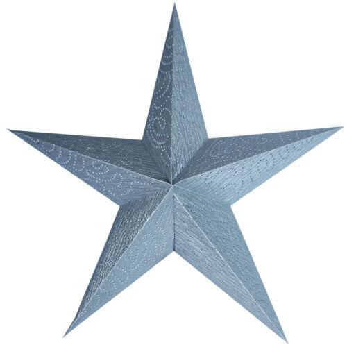 Papierstern Silber Weihnachtstern Ø45cm Sternensilouette Adventsstern 5 Zacken