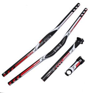EC90 MTB Carbon Flat//Riser Handlebar+Stem+Seatpost 27.2-31.6 Mountain Bike Parts