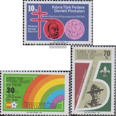 Türkisch-zypern 122-124 Postfrisch 1982 Jahrestage Durchsichtig In Sicht kompl.ausg.