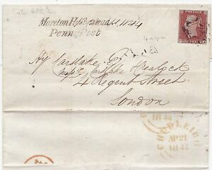 1844-APR-21-MORETON-HAMPSTEAD-PENNY-POST-CHUDLEIGH-MALTESE-CROSS-4-MGN-1d-M-X