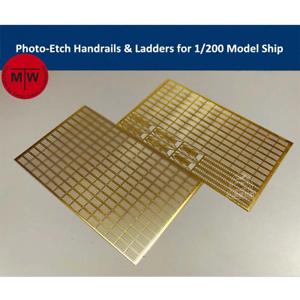 TMW 1//200 Photo-gravé mains courantes /& Ladders formodel navires 2pcs//set