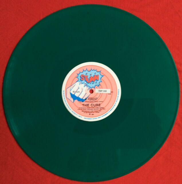 """THE CURE -A Forest- 1st Pressing New Zealand 6:42 Long version Green Vinyl 12"""""""