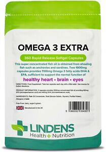 Omega-3-Extra-Fish-Oil-360-Capsules-1000mg-Flax-Seed-4357