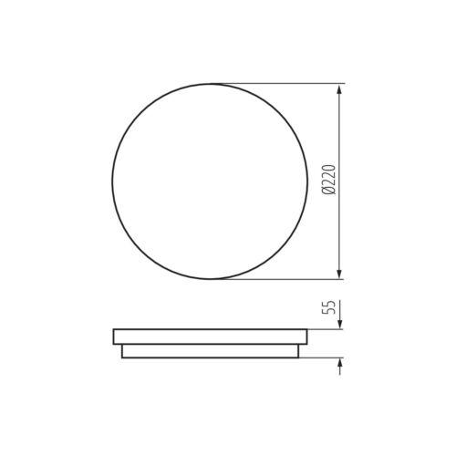 Deckenlampe LED Badlampe Küchenlampe IP54 Aufbau 18W neutralweiß 230V weiß rund