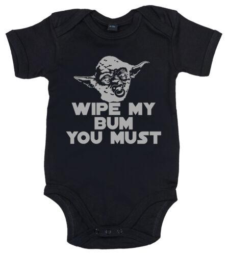 """Star Wars Baby /"""" Wischen Mein Po Du Senf /"""" Yoda Lustig Body Strampler Top"""