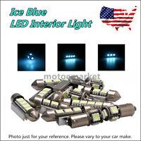 13x Ice Blue Canbus Led Interior Lights Kit For 99-05 Vw Mk4 Golf Gti Jetta Us