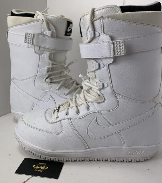 Nike Zoom Force 1 ZF1 Tripe White Rare Snowboard Boots 334841-111 Size 13 SBB