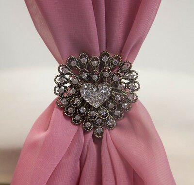 Venue Decorations Jewelry & Watches Lovely Diamante Brooches Pack Of 6 Wedding Bridal Bouquet Decoration Jewellery