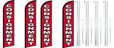 Consignment Windless Flag With Complete Hybrid Pole Set 4 Pack