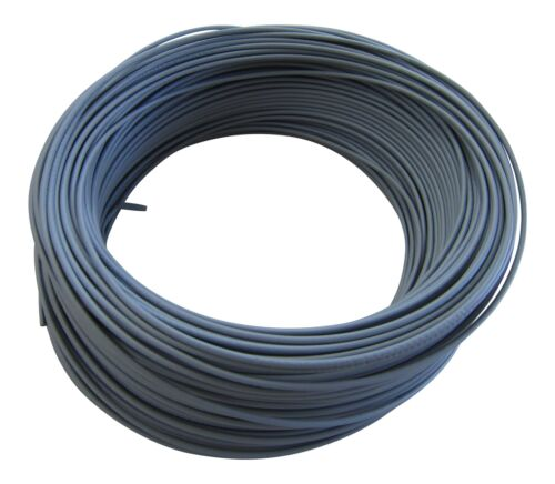 5m Grau M 0,38€//m KFZ LKW Kabel Litze Leitung Flexible FLRy 0,5mm² in Germany