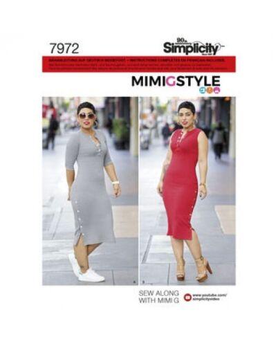 Schnittmuster Simplicity Nr Kleid 7972 in zwei Größen