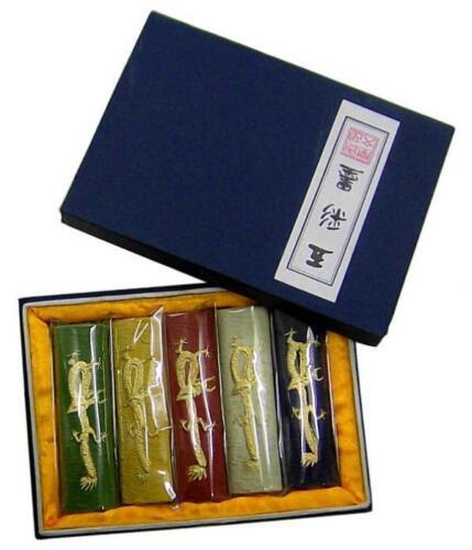 Chinesische Kalligraphie Reibetusche Tusche farbig