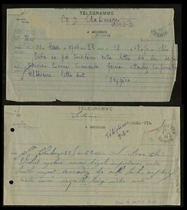 INDOCHINA-TELEGRAMS-1944-1945-QUANG-YEN-LONG-BI-OXYGENE