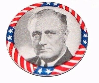 pin pinback button FREE Shipping Franklin D Roosevelt FDR Campaign