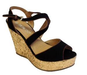2451d66e84 New Womens Ladies High Wedge Heel Pumps Platform Double Strap Shoes ...