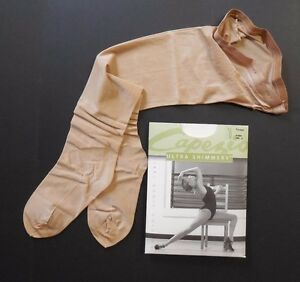 a6880b63ea655 Image is loading NWT-Capezio-1808-Ultra-Shimmery-Footed-Tights-Adult-