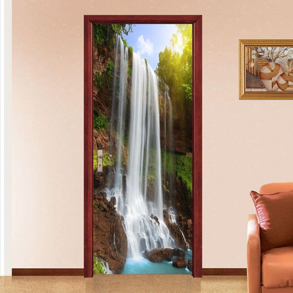 3D Wasserfall 756 Tür Wandmalerei Wandaufkleber Aufkleber AJ WALLPAPER DE Kyra | Smart  | Nutzen Sie Materialien voll aus  | Züchtungen Eingeführt Werden Eine Nach Der Anderen