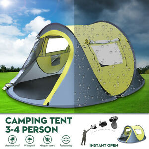 3-4-Person-Pop-Up-Waterproof-Camping-Tent-Quick-Automatic-Open-Outdoor-Portable