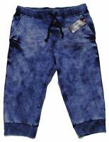 - Adam Levine Men's 'tie Dye Fleece Lounge' Blue Shorts - Medium