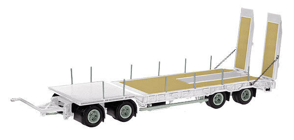 NZG 546-40 546-40 546-40 Nooteboom ASD 40 Drawbar Semi-Low Loader Trailer in White 1 50 MIB 1f6556
