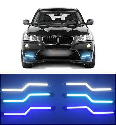 2x Auto Z DRL TFL COB LED Tagfahrlicht Tagfahrleuchten Nebelscheinwerfer Lampen
