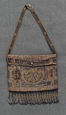 ANCIENNE PETITE BOURSE en perles brodées art déco old purse embroidered pearls