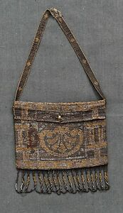 ANCIENNE-PETITE-BOURSE-en-perles-brodees-art-deco-old-purse-embroidered-pearls