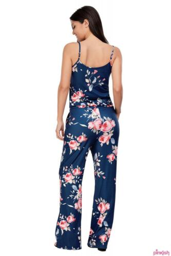 Women Jumpsuit Wide Leg Sleeveless Playsuit Size S to L
