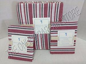 Pottery Barn Kids Lakehouse Stripe Duvet Cover Full Queen