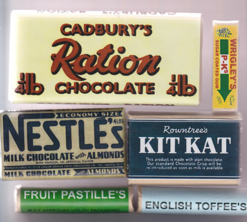 EDIBLE REPRO 1940s WARTIME BIRTHDAY PRESENT CONFECTIONERY SET FOR A REENACTOR