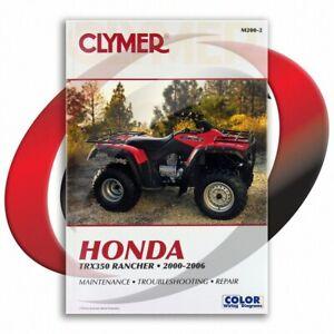 2000-2006-Honda-TRX350TM-FourTrax-Rancher-Repair-Manual-Clymer-M200-2-Service