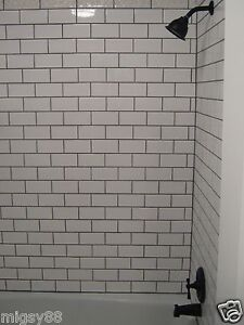 wall tiles -- gloss white plain subway tile 150x75mm